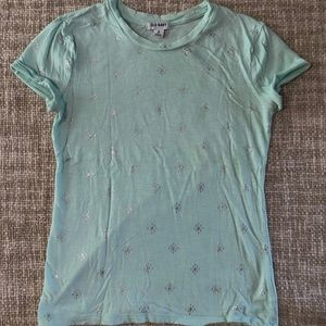 Old Navy Graphic Tee XS Mint and Silver Worn Once